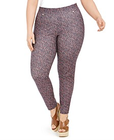 Plus Size Printed Leggings