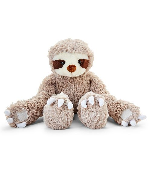 Two's Company Soft Plush Sloth with Velcro Closure