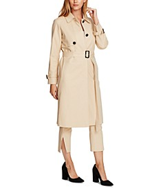Cotton Double Weave Belted Trench Coat