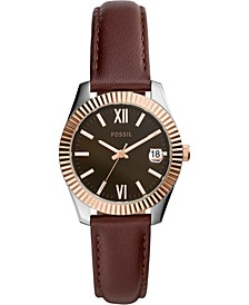 Women's Scarlette Mini Brown Leather Strap Watch 32mm