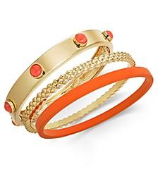 INC Gold-Tone 3-Pc. Set Bangle Bracelets, Created for Macy's