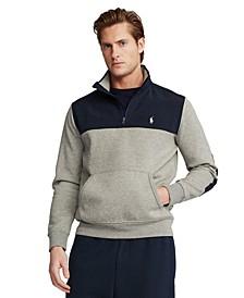 Men's Hybrid Ouarter-Zip Double-Knit Pullover