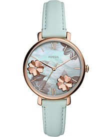Women's Jacqueline Mint Leather Strap Watch 36mm