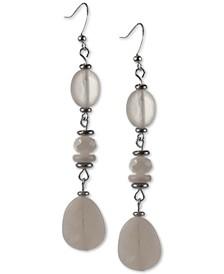 Beaded Linear Drop Earrings, Created for Macy's