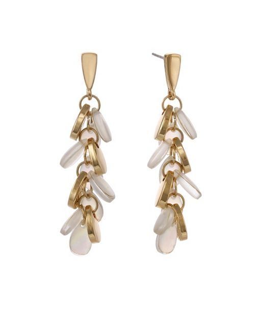 Laundry by Shelli Segal Linear Pearl Earrings