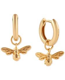 Lucky Bee Huggie Hoop Earrings