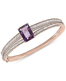 EFFY® Pink Amethyst (7-1/3 ct. t.w.) & Diamond (1-7/8 ct. t.w.) Bangle Bracelet in 14k Rose Gold
