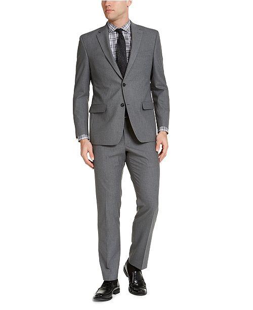 IZOD Men's Classic-Fit Gray Solid Suit