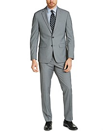 Men's Slim-Fit Black/White Tic Suit
