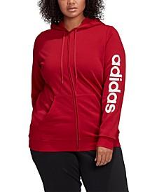 Plus Size Logo-Print Zip-Up Hoodie