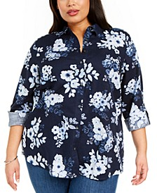 Plus Size Printed Shirt, Created for Macy's