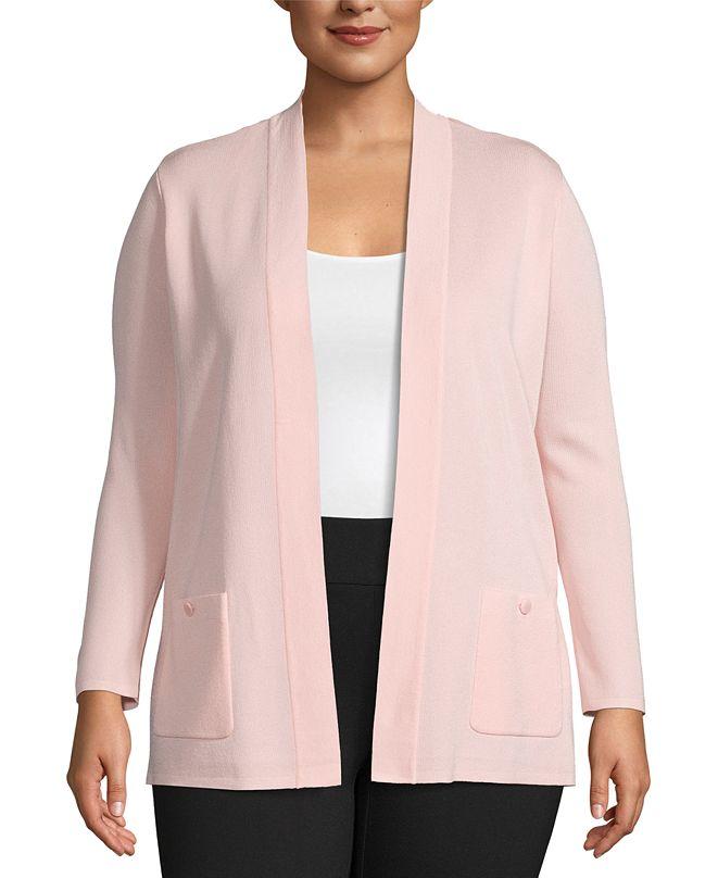 Anne Klein Plus Size Malibu Open-Front Cardigan