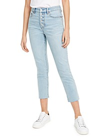 Button-Fly Cropped Jeans