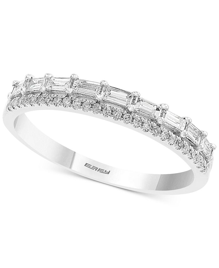 EFFY Collection - Diamond Two-Row Band (3/8 ct. t.w.) in 14k White Gold