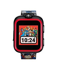 Kids PlayZoom DC Comics Justice League Strap Touchscreen Smart Watch 42x52mm