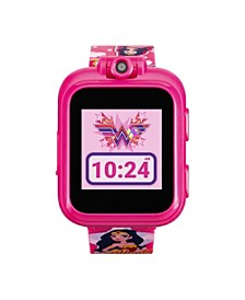 Unisex Playzoom DC Comics Fuchsia Silicone Strap Kids Smartwatch, 41mm