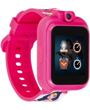 Unisex Playzoom Dc Comics Fuchsia Silicone Strap Kids Smartwatch
