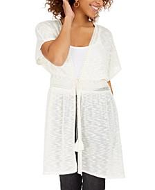 Juniors' Lace-Trimmed Kimono