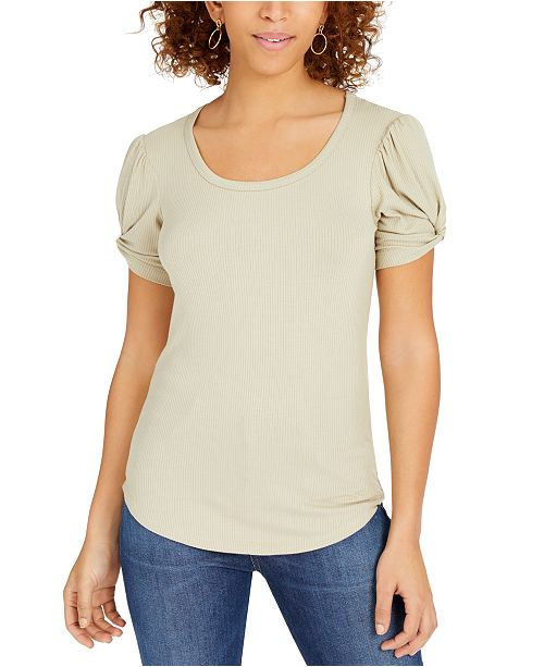 Crave Fame Juniors' Puff-Sleeve Top
