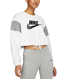 Nike Women's Sportswear Colorblocked Logo Cropped Sweatshirt