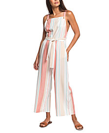 Roxy Juniors' From The Clouds Striped Jumpsuit