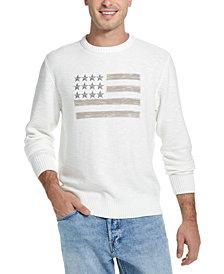 Weatherproof Vintage Men's Embroidered Flag Sweater