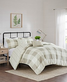 Morrison 5-Piece King/Cal King Reversible Buffalo Check Comforter Set