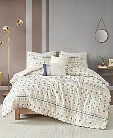 Auden 5 Piece Full/Queen Cotton Jacquard Comforter Set