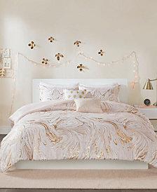 Intelligent Design Rebecca Metallic Printed 5-Piece Full/Queen Comforter Set