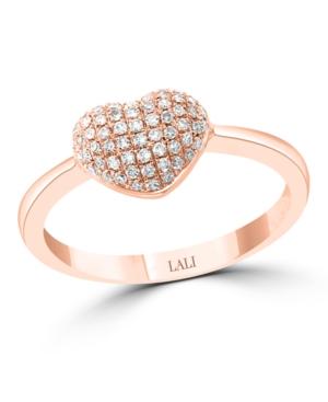 Diamond (1/3 ct. t.w.) Heart Ring in 14K Rose Gold