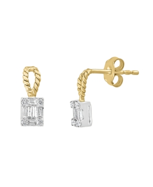 Diamond (1/4 ct. t.w.) Earring in 14K Yellow and White Gold