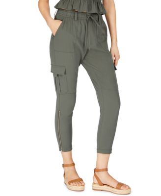 Fa M ou S High Street Store Women/'s Linen Blend Cropped Trousers White /& Beige