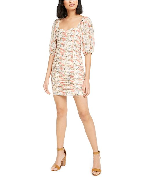 Lucy Paris Smocked Ruched Dress