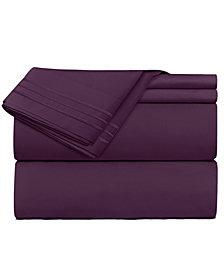 CLARA CLARK Premier 1800 Series 3 Piece Deep Pocket Bed Sheet Set, Twin