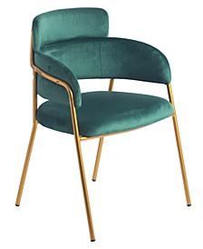 Silk Velvet Modern Gold-Tone Metal Chair