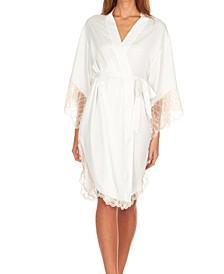 Gabby Long Charmeuse Wrap Robe