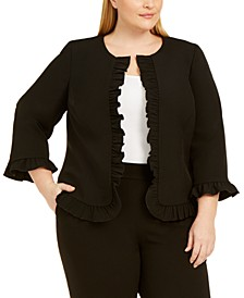Plus Size Ruffled Jacket