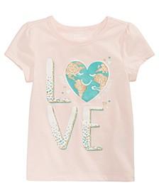 Little Girls Love Earth T-Shirt, Created for Macy's