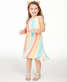 Little Girls Striped High-Low Dress, Created for Macy's