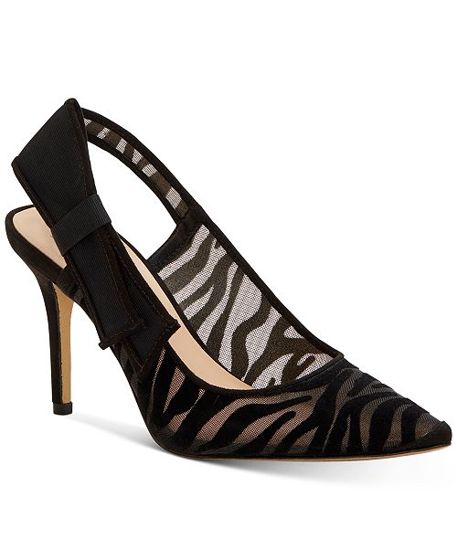 INC International Concepts INC Women's Coletta Pointed-Toe Slingback Pumps, Created For Macy's