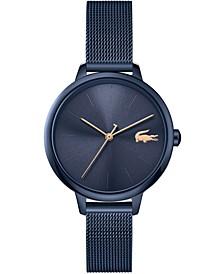 Women's Swiss Cannes Blue Stainless Steel Mesh Bracelet Watch 34mm