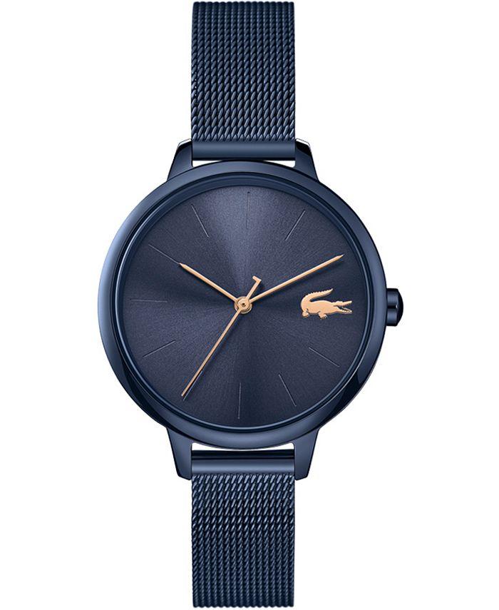 Lacoste - Women's Swiss Cannes Blue Stainless Steel Mesh Bracelet Watch 34mm