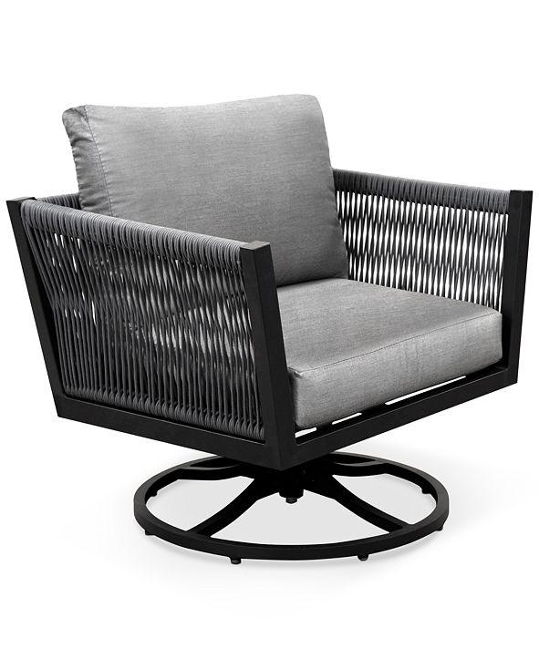 Furniture Braxtyn Outdoor Swivel Chair with Sunbrella ...