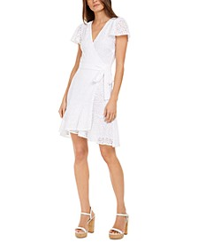 Surplice Lace Wrap Dress