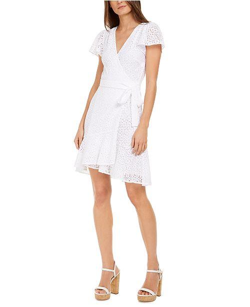 Michael Kors Surplice Lace Wrap Dress Reviews Dresses Women Macy S,Bride Plus Size Black Wedding Dresses