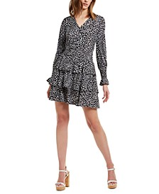 Tiered Animal-Print Dress, Regular & Petite