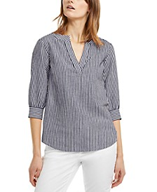 Striped Tunic, Regular & Petite