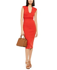 V-Neck Sheath Dress