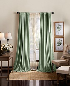"Martha Stewart Lucca Velvet 50"" x 95"" Blackout Curtain Set"