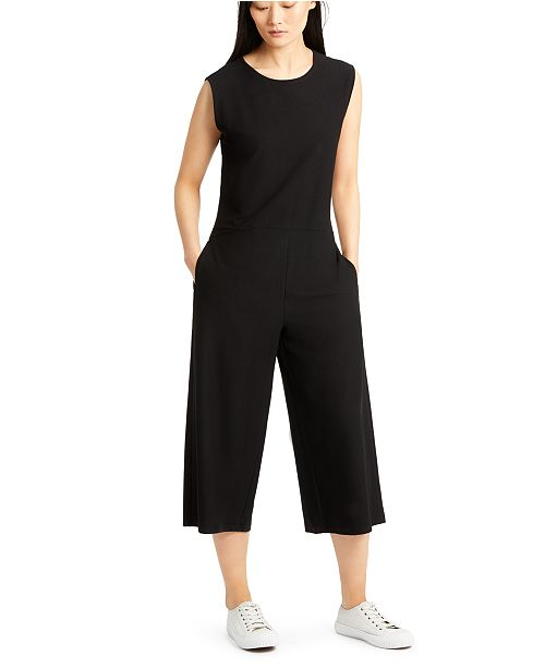 Eileen Fisher Cropped Wide-Leg Jumpsuit